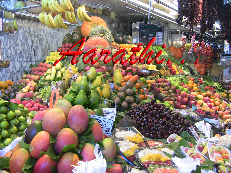 Colorful Fruit Stall