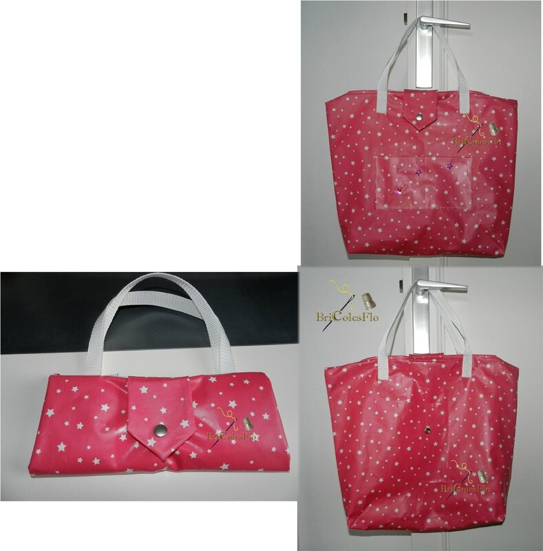 Sac pliable rose