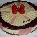 Bavarois chocolat blanc, fraises