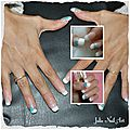 Pose capsule gel avec french et nail art