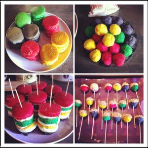 cake pop et rainbow cake individuels