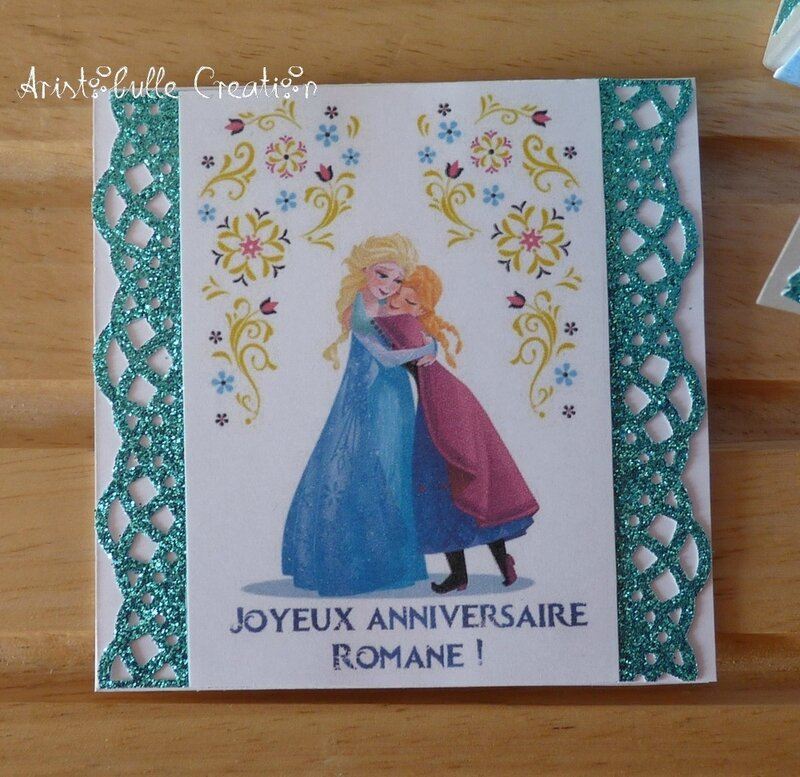 Card in a box Reine des Neiges - carte message