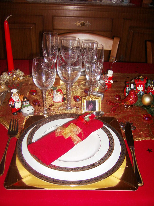 Emplacement par personne pour noel 2009 photo de art de - Art de la table decoration ...