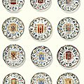 A matched set of twelve chinese 'famille-verte' 'province' plates, qing dynasty, kangxi period