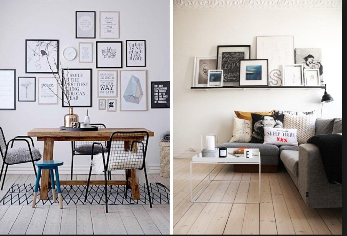 un mur des cadres little cocoon. Black Bedroom Furniture Sets. Home Design Ideas