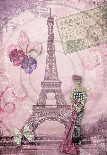 affiche paris rose