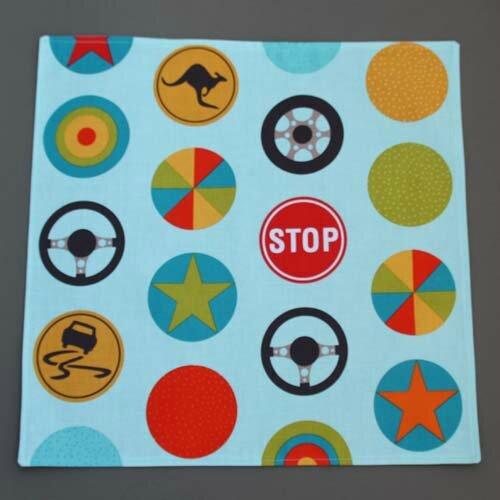 Nouvelle grande serviette de table enfants En route Lilooka