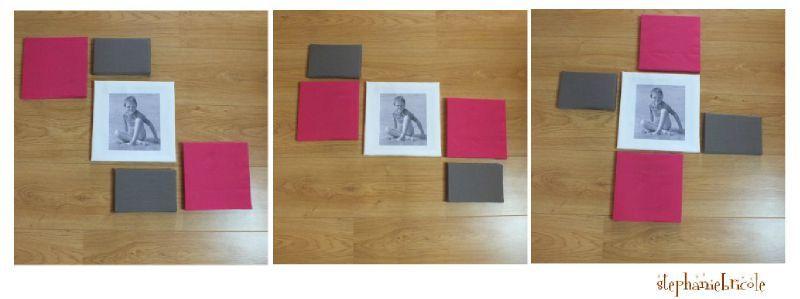 id e d co murale faire soi m me agencement de ch ssis en tissu et un transfert de photo. Black Bedroom Furniture Sets. Home Design Ideas