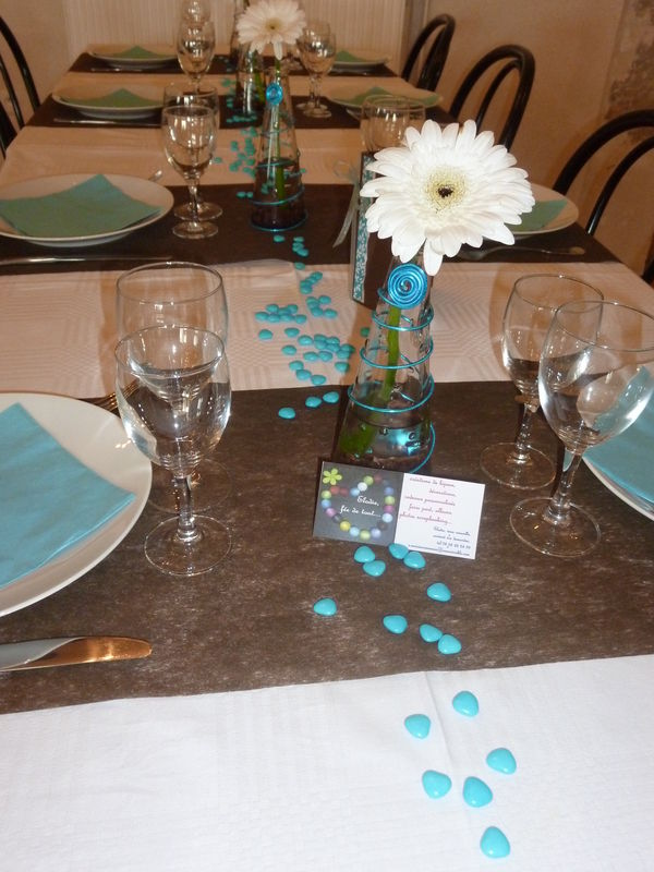 Table Chocolat Turquoise