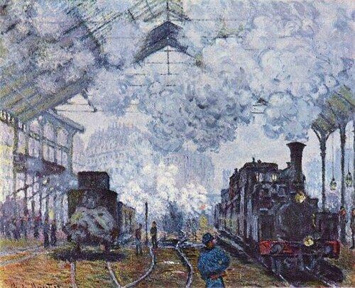 Monet La Gare St Lazare