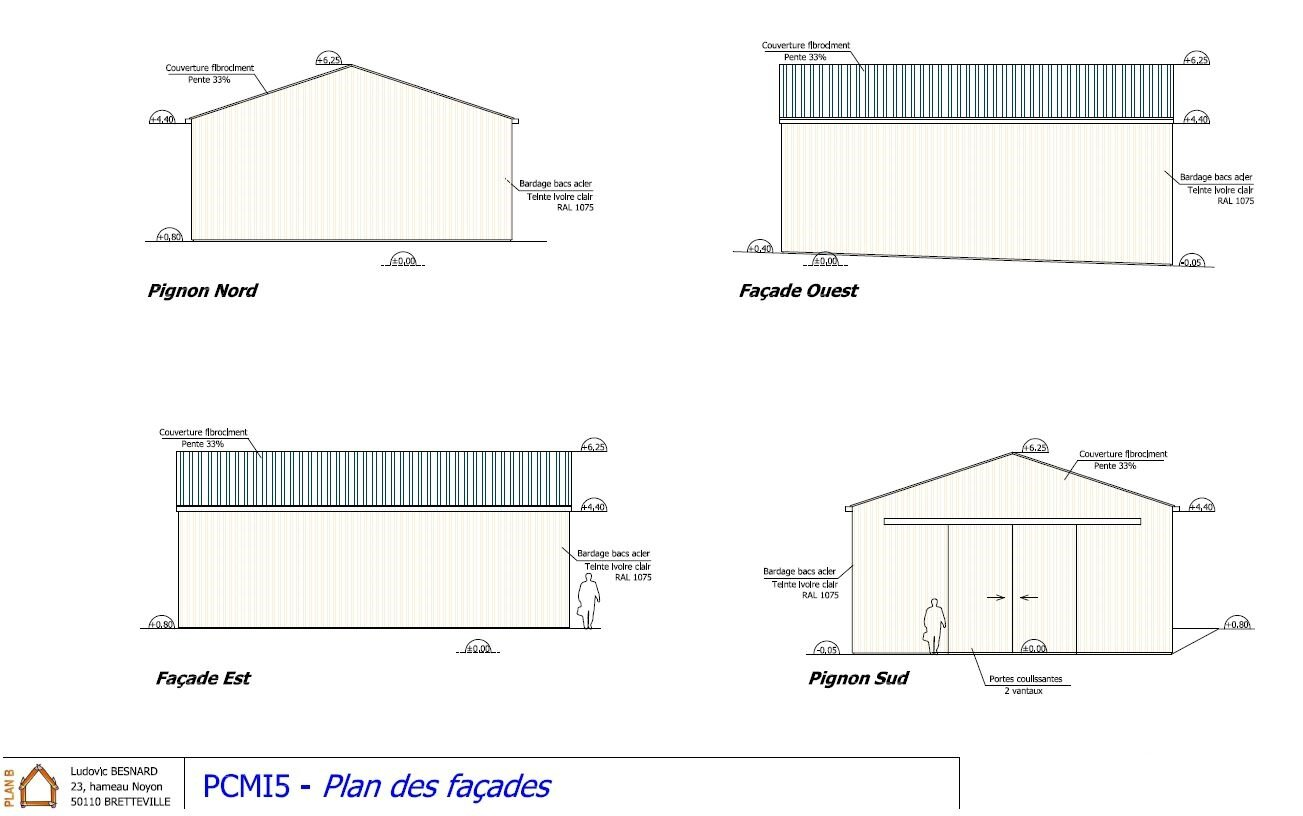Construction d 39 un hangar plan b for Permis de construire hangar