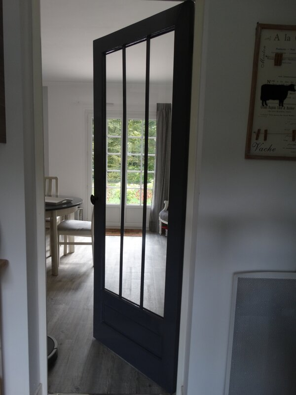 Porte int rieure fa on atelier nathou kikou mais pas for Porte interieure vitree 6 carreaux