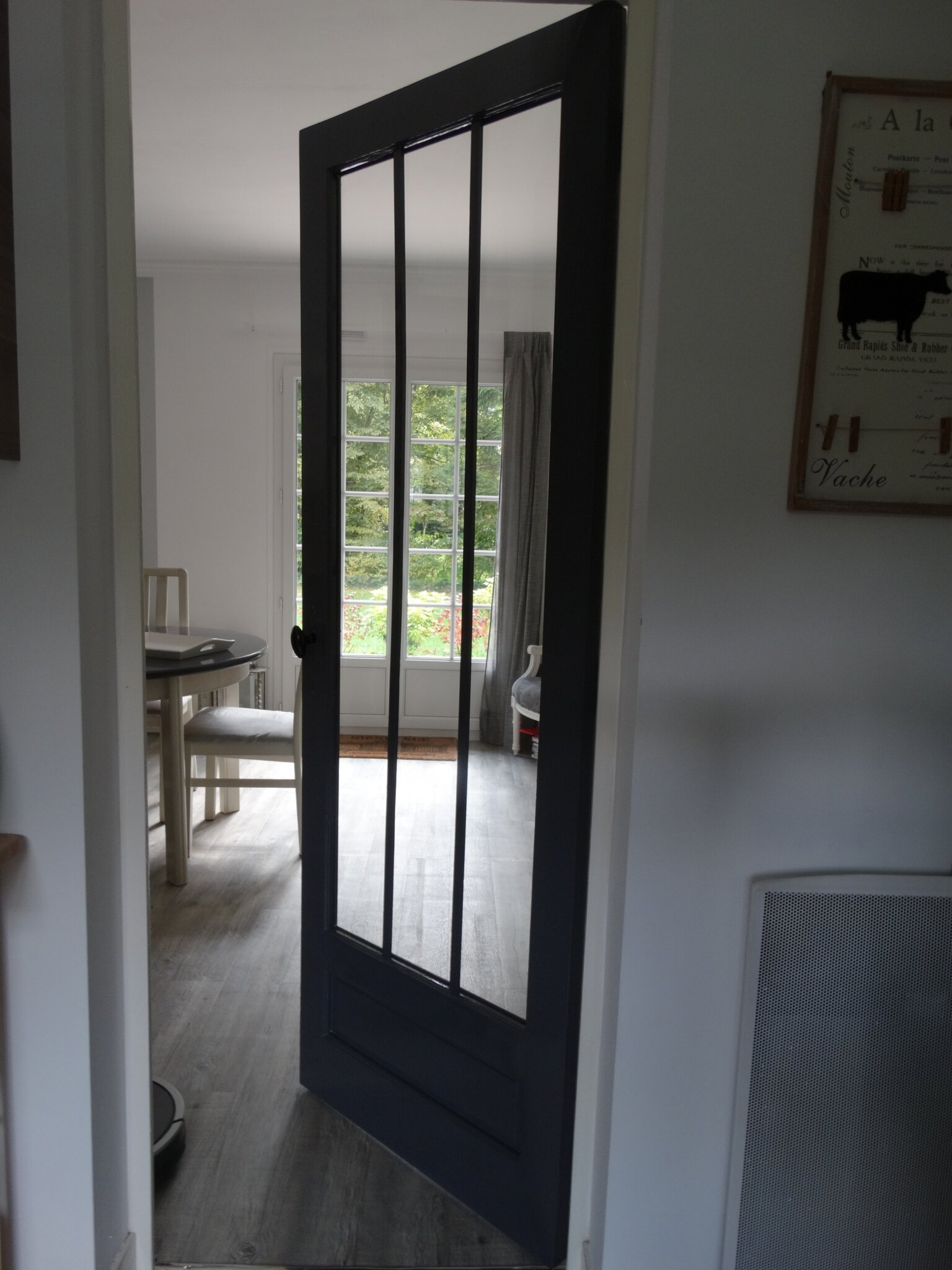 Porte int rieure fa on atelier nathou kikou mais pas for Porte a carreaux interieur