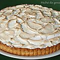 Tarte  la rhubarbe meringue