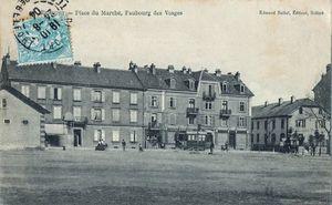 CPA Belfort Place du Marché 1903-04