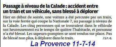 accident La Calade 10-7-2014