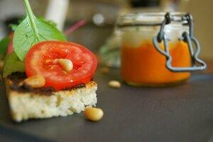 Gaspacho de Tomate et focaccia Riviera