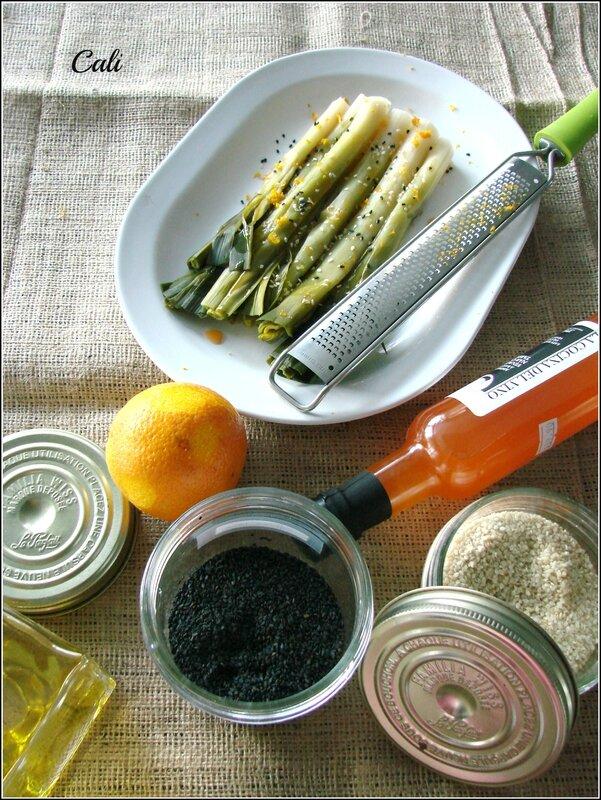 Salade de Poireaux à l'Orange & au Sésame 001