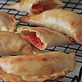 Empanadas aux poivrons rouges et comte
