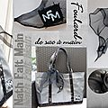 Foulard de sac organza noir