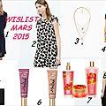 Wishlist mars 2015