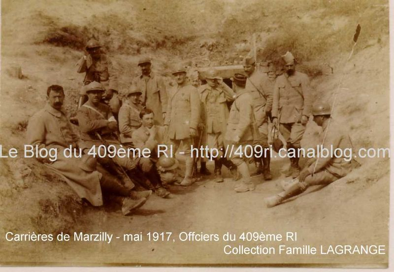 Carrières de Marzilly - Officiers du 409è RI