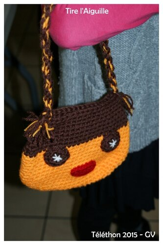 Téléthon 2015 - Sac crochet orange - GV