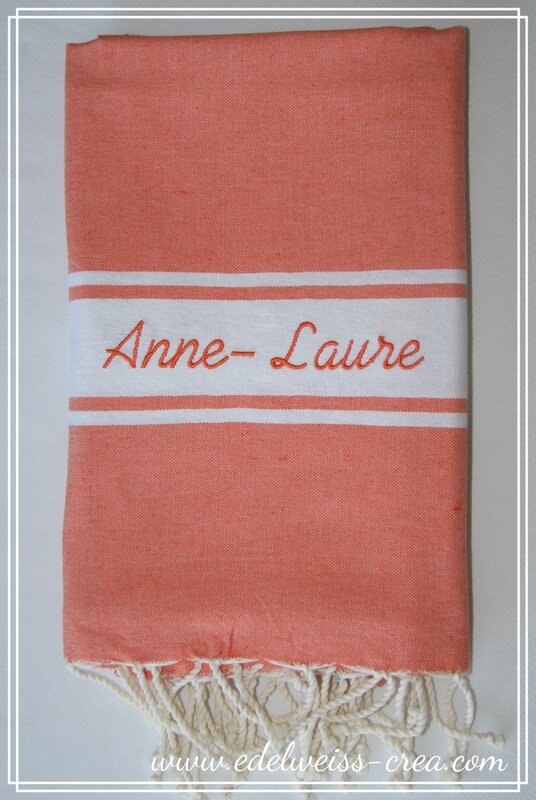 Fouta orange - Anne-Laure