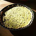 Tarte courgettes-menthe-citron