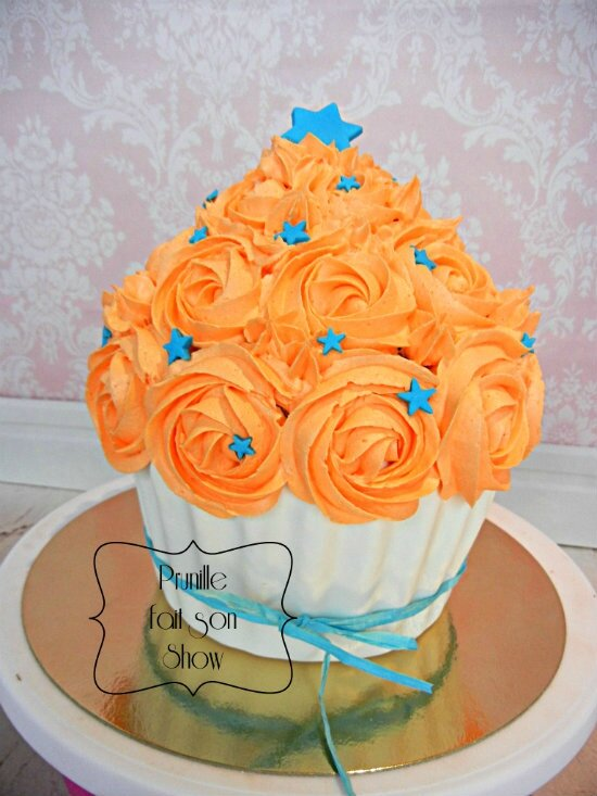 smash cake orange bleu etoile prunillefee
