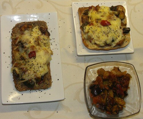 Mini pizza à la ratatouille