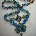 Charlene Hugues, en bleu