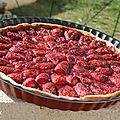 Tarte fraises et menthe