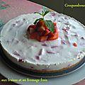 Gateau aux fraises et au fromage frais