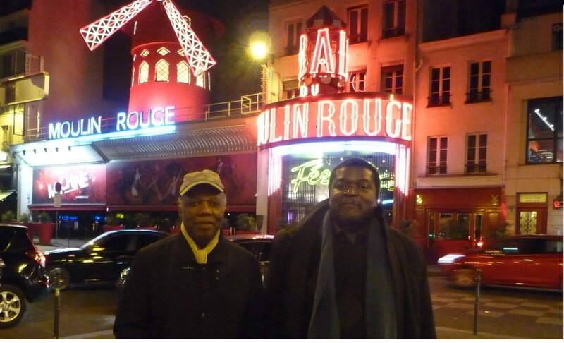 Photo au dos de Chant du Black Paname Henri Moucle et Thierry Sinda