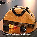 Tutoriel vidéo : gâteau sac à main en 3d
