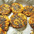 Galettes de patates douces au chorizo