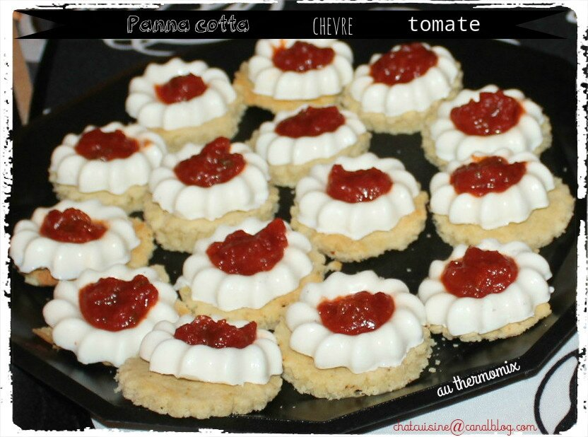 panna cotta ch vre tomate au thermomix chatcuisine. Black Bedroom Furniture Sets. Home Design Ideas
