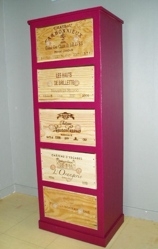 meuble carton caisse vin images. Black Bedroom Furniture Sets. Home Design Ideas