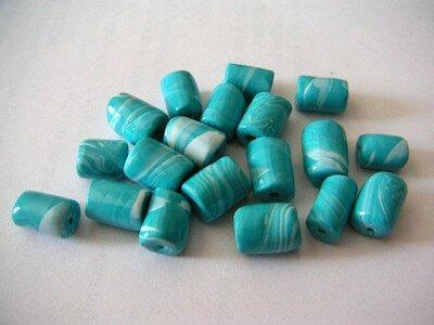 Perles marbrées bleus ciel