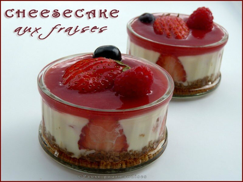 petits cheesecake aux fraises sans oeuf et sans cuisson. Black Bedroom Furniture Sets. Home Design Ideas