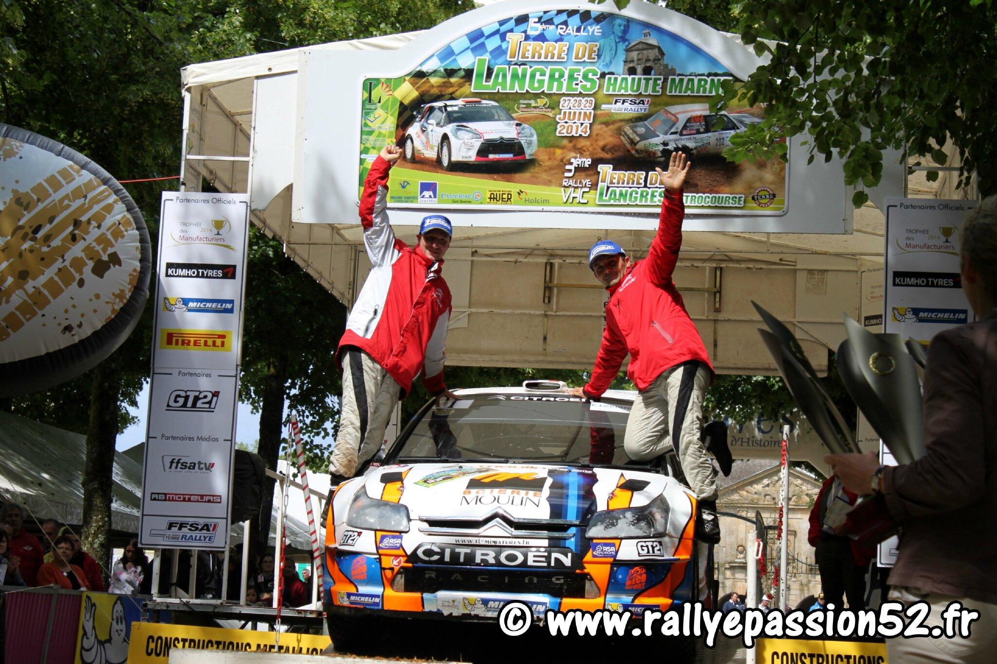 Classement Rallye Terre de Langres 2014