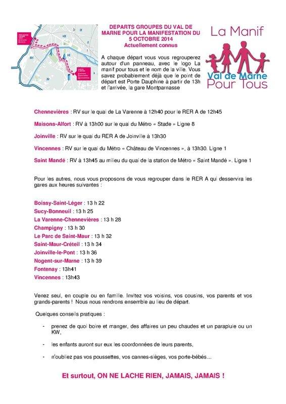 Départs groupés LMPT 94 5 oct 2014