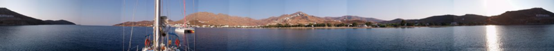 360° panoramic view of Seriphos Leivadhion, July 30, 2003