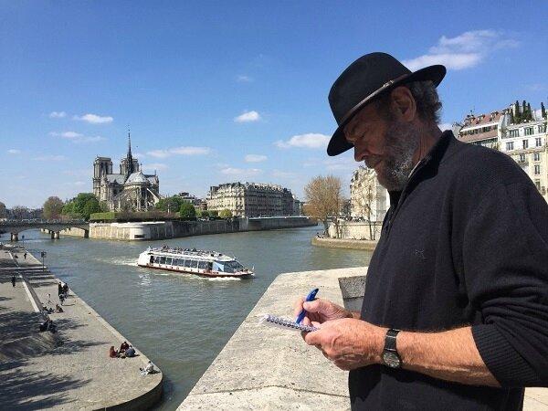 Ramon Ward-Thompson portrait in paris
