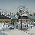 - ferme comtoise en hiver - tableaux -