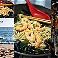 Sobas, crevettes et leur bouillon épicé