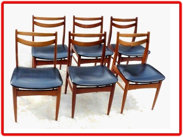 chaises vintage design scandinave teck