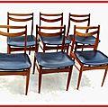 Chaises vintage design scandinave bois clair