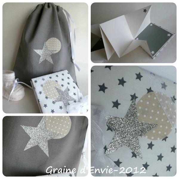 pochon étoile naissance collage